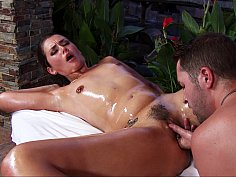 Allie Haze loves massage