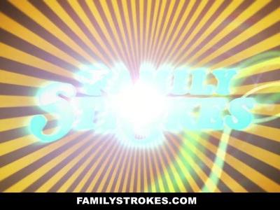FamilyStrokes  -  Step-Daughter生活请她的爸爸