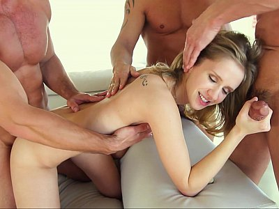 Rachel's first real gangbang