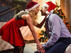 Lovely couple having a great xmas