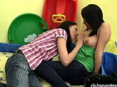 Teen lesbians masturbating twats