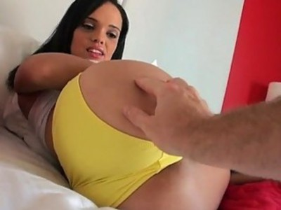Busty amateur girlfriend first time anal