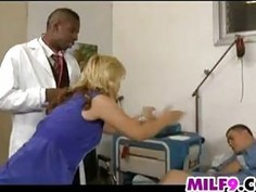 Beautiful Blonde Housewife Cuckold