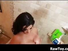 BBW Masturbating In The Shower