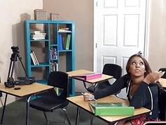 Slutty teen student Sophia Torres ass fucked by her teacher