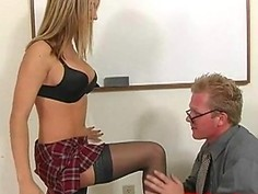 naughty young blonde schoolgirl