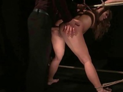 Hot slavegirl Linda Ray gets bondaged and anal fuc