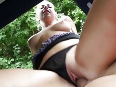 Teen Jessie finds a man and cock to ride