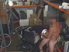Blonde MILF Doggystyle And Face Fucked In Pawn Shop