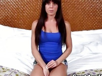Amateur Rahyndee auditioning for an XXX movie