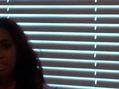 Redhead latina stripping rubs large penis in POV