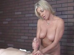 Milf giving a massage