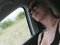 Alena was a hot hitchhiker who got  fucked in the car
