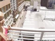 Blonde Valeri jumping cock like true hooker