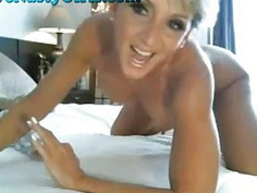 Stunning Webcam Milf Rides Her Dildo