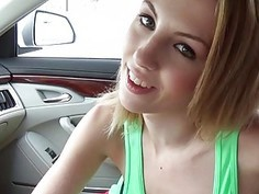 Tight teen Jenna Marie banged in the car