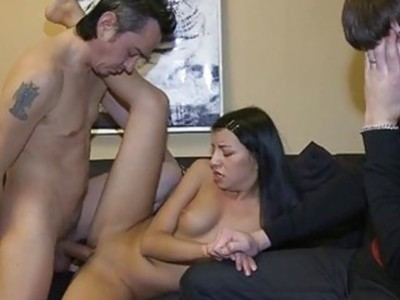 Girlfriend charms one more hunk with pecker riding