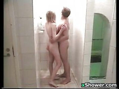 Young Couple In The Shower