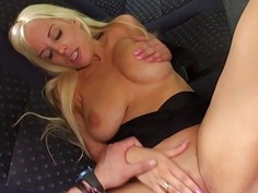 A hot facial for a hottie Blondie chick
