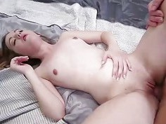 Little Marissa gets hump with huge dick