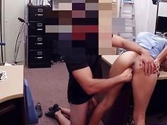 Girl desperately needs money gets fucked at the pawnshop