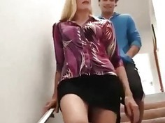 Horny Blonde Mom Darryl Hanah Blows Her Son's Friend - Hotmoza.com