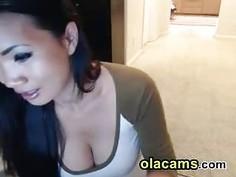 Cute sexy asian milf busty on webca