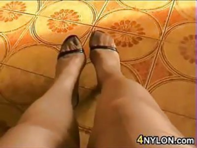 Wearing Nylons And High Heels