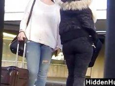 Teen Wearing Tight Pants In Public