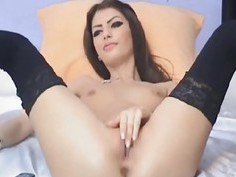 Hot Russian Teen Dildo Masturbation