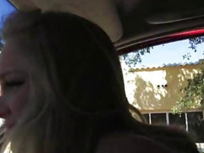Sexy teen slut Staci fucked on the road by nasty stranger