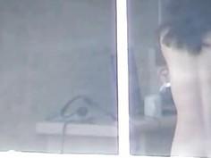 Me peeping at my cute neighbor