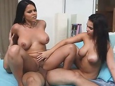 Sexy chicks Ada Sanchez and Diamond Kitty sharing
