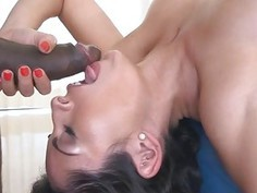 Horny Sofia Rivera wanted a black hard cock