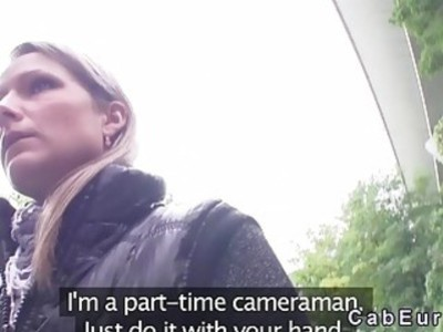 Czech blonde amateur banged outdoor pov