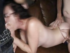 Insane gangbang of real librarian