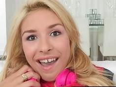 Cutie blonde teen girl Carmen Caliente fucked by big dick