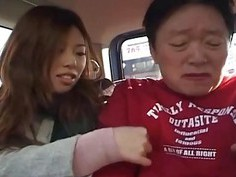 Dominant Japanese women tease man in drag subtitle