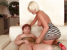 Antynia Rouge loves old fat redhead