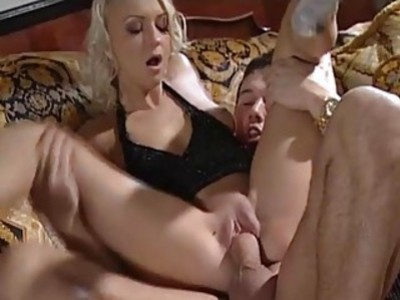 Amazing Blondie rides her boyfriends cock