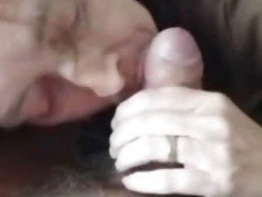 Married Milf Sucks a Fat Cock