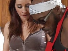 Kinky Cici Rhodes double pounded by big black cocks