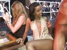 Horny Ladies sucking big cocks in the party