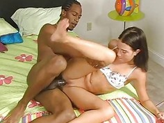 Delightful wang riding and lusty handjob