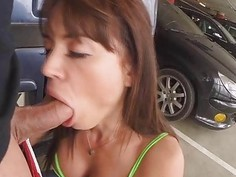 Franceska Jaimes got slammed in the ass at the parking lot