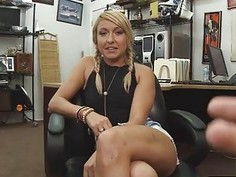 Sweet blonde babe fucking it hard