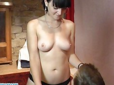 Blowjob and handjob by 19yo czech amateur