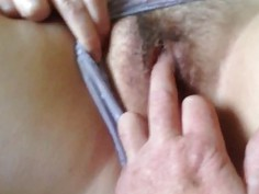Tickling a Milf's Mature Pussy