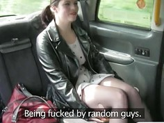 Horny passenger analyzed by nasty driver to off her fare