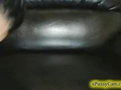 Hot brunette masturbate